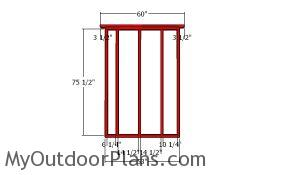 Side wall frames - 5x20 shed