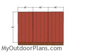 Side wall siding panels - Storage Shed 12x12