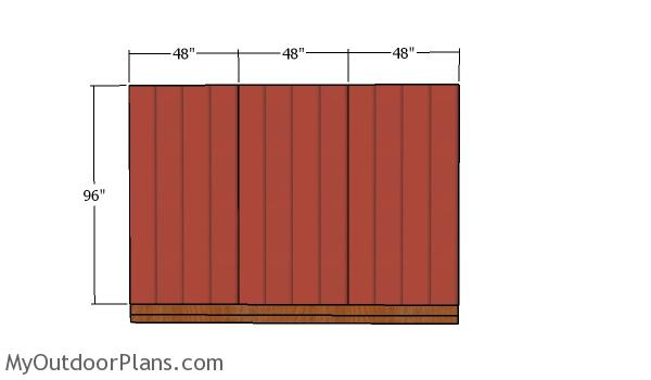 Side wall siding panels - Storage Shed 12x12