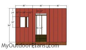 Side wall with door - Siding panels