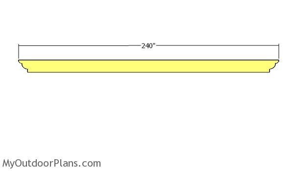 Support beams - 10x18 Pergola