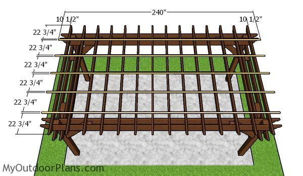 Top slats - 10x18 Pergola