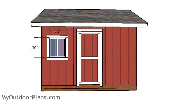 Window trims - 12x12 gable shed