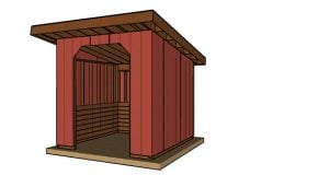 10×10 Portable Cattle Shed Plans