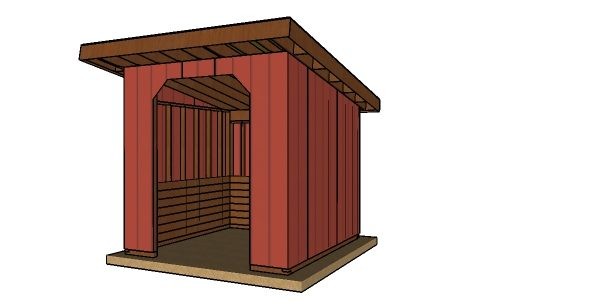10x10 run in shed plans free