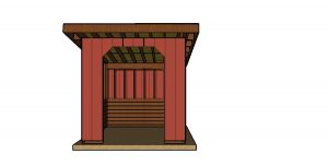 10x10 run in shed plans free - front view