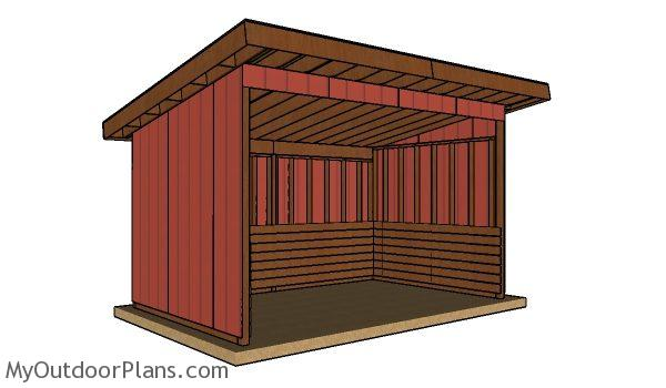 10x16 run in shed plans