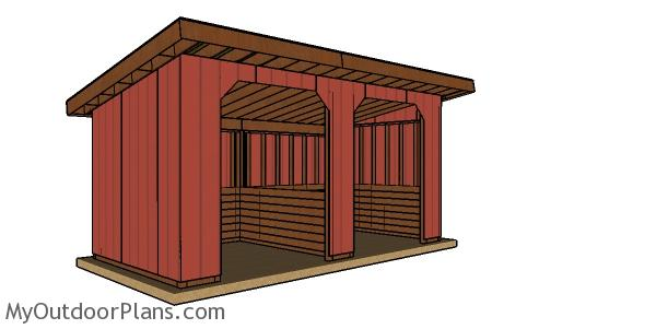 10x20 Run In Shed Plans - Free PDF Download