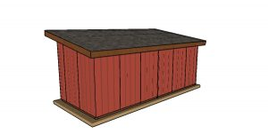 10x24 run in shed plans - back view