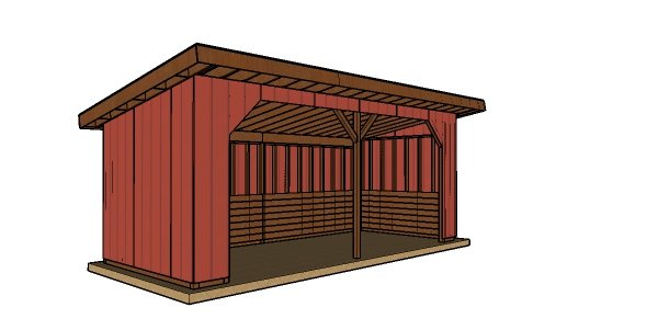 10x24 Run In Shed Plans - PDF Download