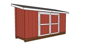 5×16 Lean to Shed Plans
