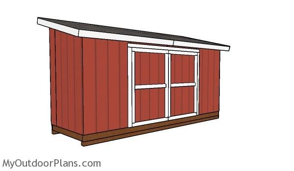 5x16 Lean to Shed Plans