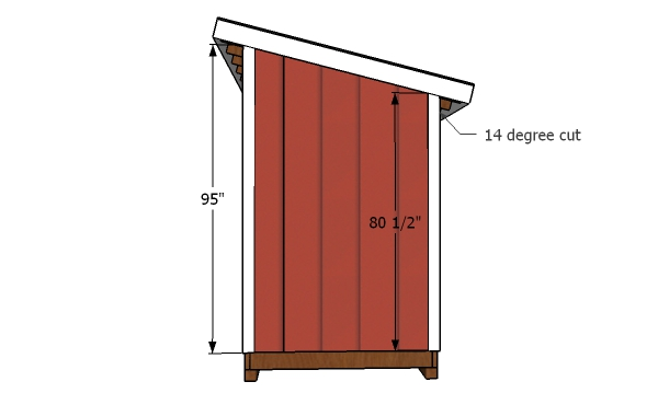 5x8 Lean to shed side trims