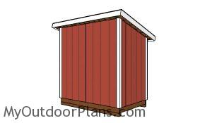 5x8 Lean to shed plans - back view