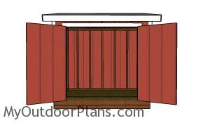 5x8 Lean to shed plans - front view