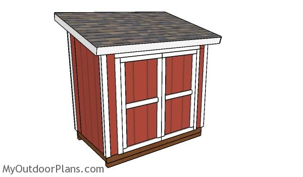5x8 Lean to Shed Plans - Free PDF Download