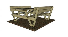 6′ Picnic Table with Backrests Plans