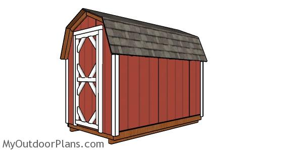 6x10 Gambrel Shed Plans