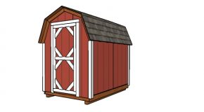 6×8 Gambrel Shed Plans