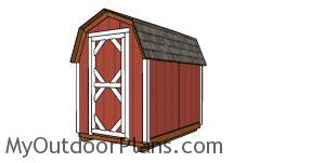 6x8 Gambrel Shed Plans