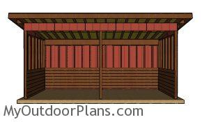 8x20 Run in shed plans