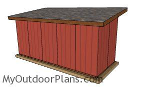 8x20 Run in shed plans - back view