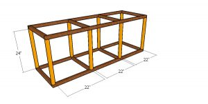 Assembling the catio frame