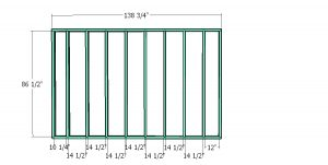 Back wall frame - 10x24 run in shed plans