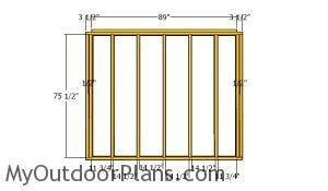 Back wall frame - 5x8 Shed