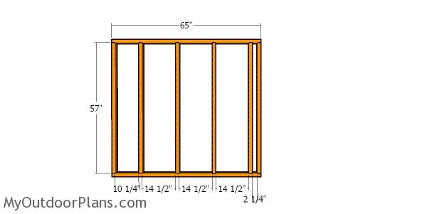 Back wall frame - 6x8 barn shed