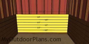 Back wall kickboards - 10x10 run in shed