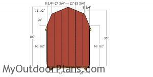 Back wall panels - 6x8 shed