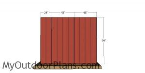 Back wall siding - 10x10 run in shed