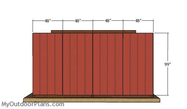 Back wall siding sheets - 10x16 run in shed