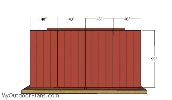 Back wall siding sheets - 10x16 run in shed