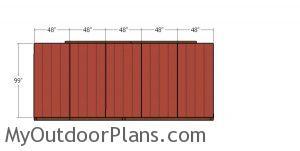 Back wall siding sheets - 10x20 run in shed