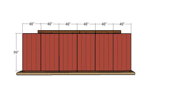 Back wall siding sheets - 10x24 run in shed