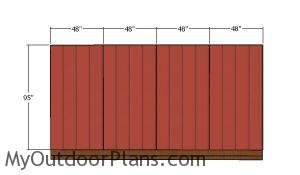 Back wall siding sheets - 5x16 lean to