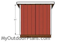 Back wall trims - 5x8 Shed