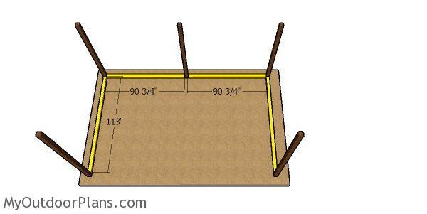 Base skids - 10x16 run in shed