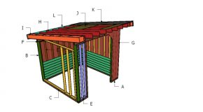 10×10 Cattle Shed Roof Plans