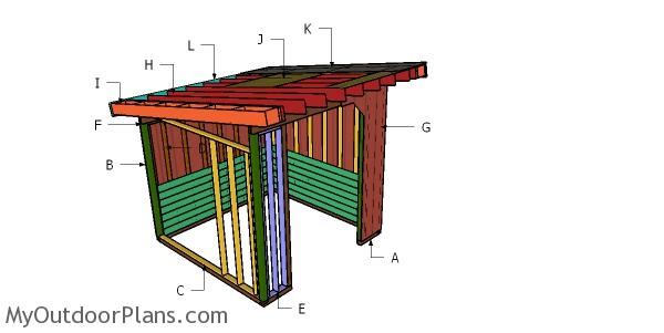 10x10 Cattle Shed Roof Plans