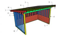 10×16 Run In Shed Roof Plans