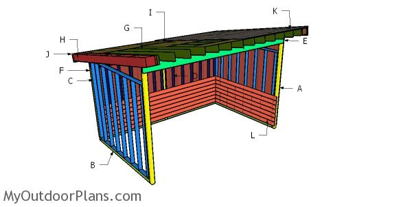10x16 Run In Shed Roof Plans