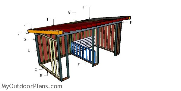 10x20 Run In Shed Roof Plans