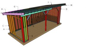 10×24 Run In Shed Roof Plans – Free PDF Download
