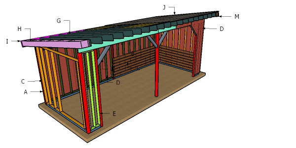 10x24 Run In Shed Roof Plans - Free PDF Download