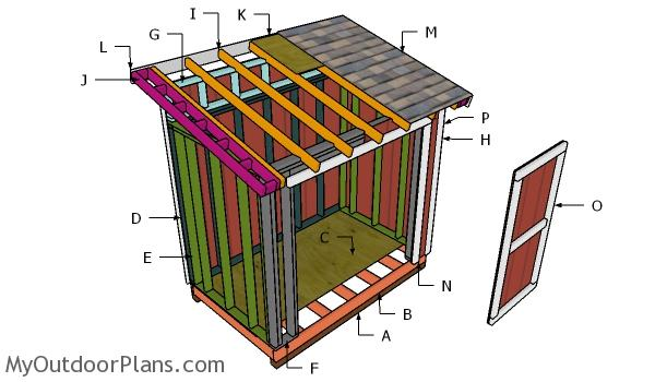 5x8 Lean to Shed Roof Plans