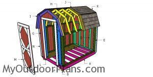 Building a 6x8 gambrel shed