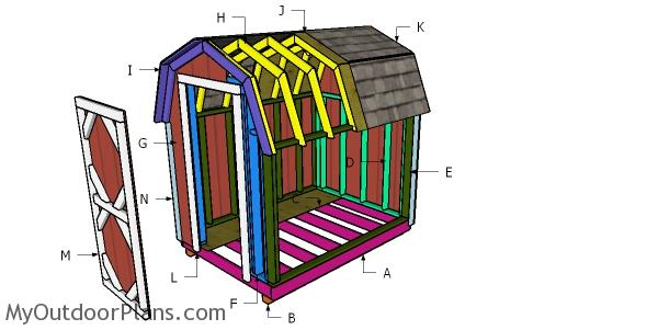 Building a 6x8 gambrel shed